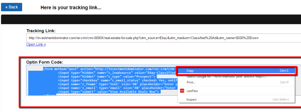 How To Embed A Trackable Optin Form On An External Website or Page