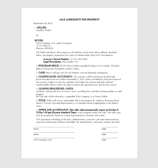 Customize The Offer Contract For Land – (Agreement When Buying)
