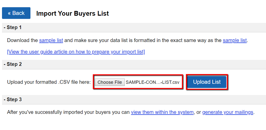 How To Import Contacts Into Your Buyers List