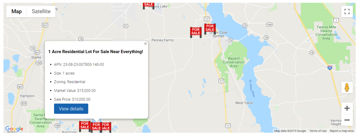 Add An Interactive Property Listing Map To A Custom Selling Site Page