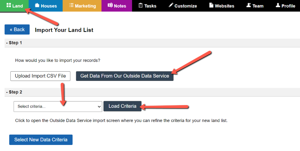 How To Load Saved Criteria For Our Outside Data Service