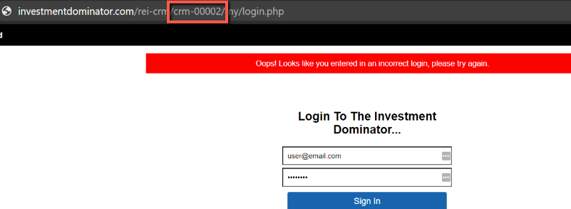 Why Can't I Login to Investment Dominator