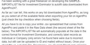 Agent Pro 24/7 Data Reformatting Tool