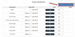Customize> Website Settings - Selling> Property Listing Elements