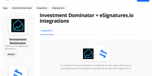 Zapier: How To Connect The Investment Dominator To eSignatures.io