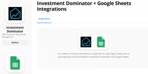 Zapier: How To Connect The Investment Dominator To Google Sheets
