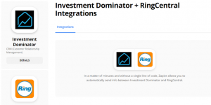 Zapier: How To Connect The Investment Dominator To Ring Central